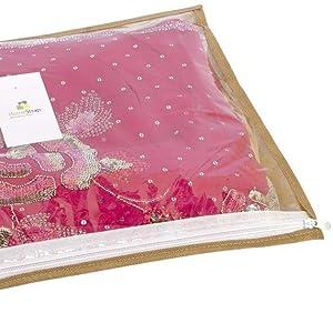 fabric saree cover, beige saree cover,PVC saree cover,single saree cover set of 24,saree cover combo