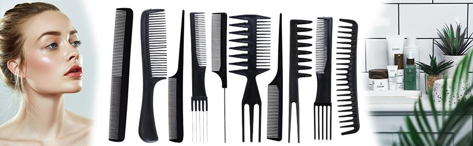fani 18Pcs Professional Styling Comb Set