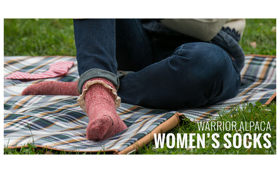 womens warrior alpaca superfine wool socks