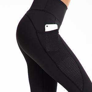 UURUN High Waist Yoga Pants Capri Workout Running Leggings with Pockets - Non-See-Through Fabric 13