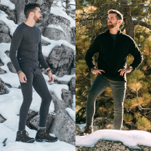 wear our thermal bottoms whether it's sunny or snowing and enjoy warmth and comfort