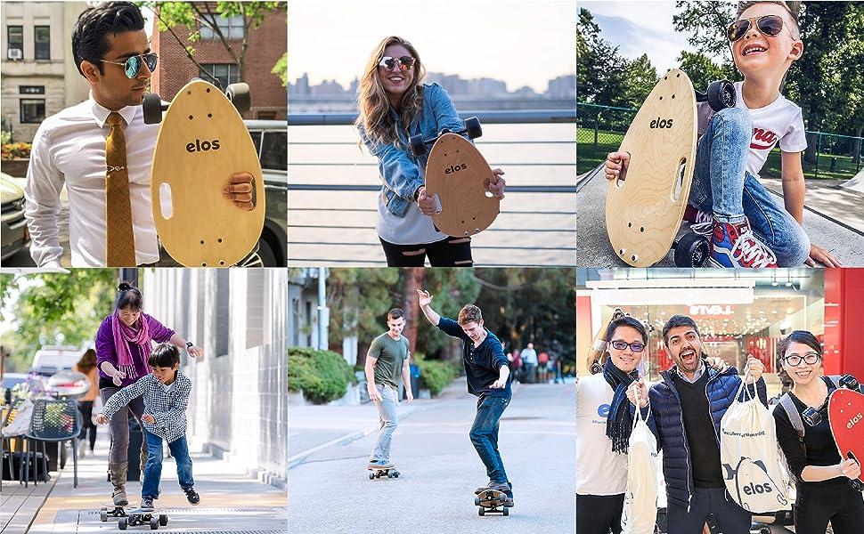 Elos Skateboard. Welcoming and beginner friendly.