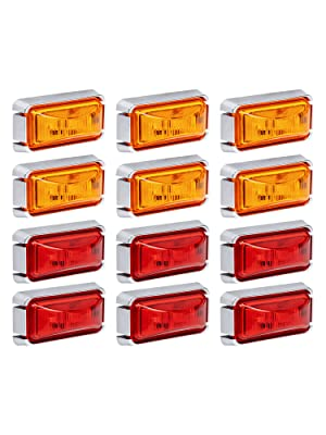 """2.5"""" Red amp; Amber Clearance Marker Light"""