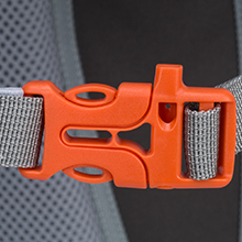 High quality durable Sternum strap with emergency whistle buckle