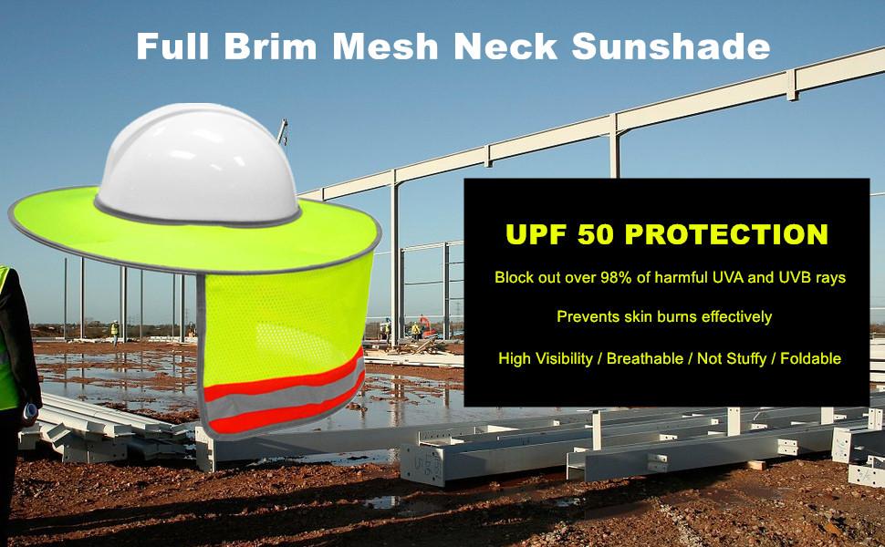 hard hat sun shield