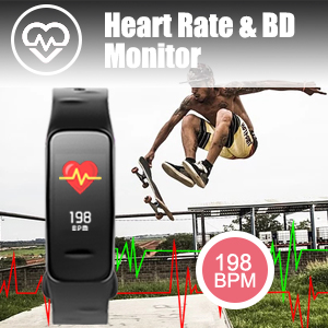 Heart rate monitor; blood pressure monitor; blood oxygen monitor