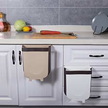 trash can over cabinet door