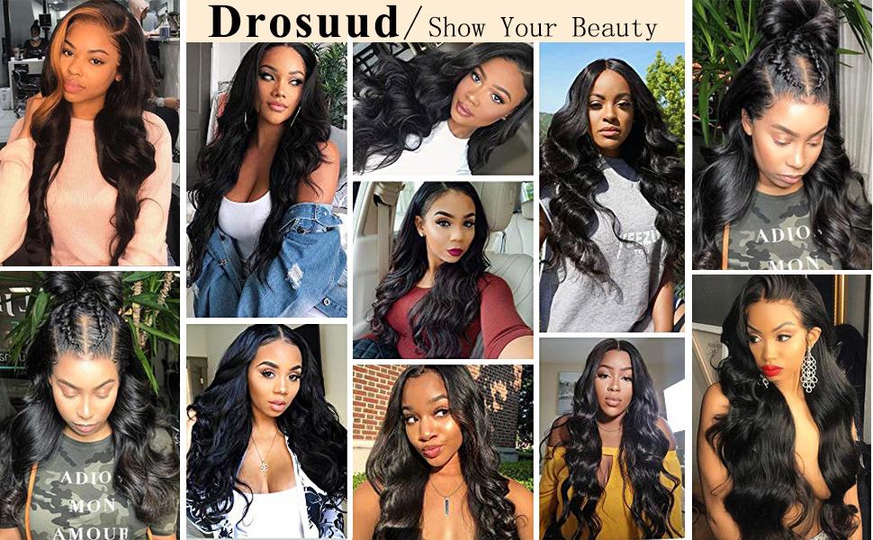 Customer show body wave wig 13x4 4x4