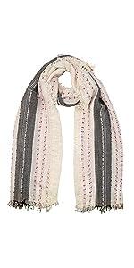 sciarpa lana seta righe