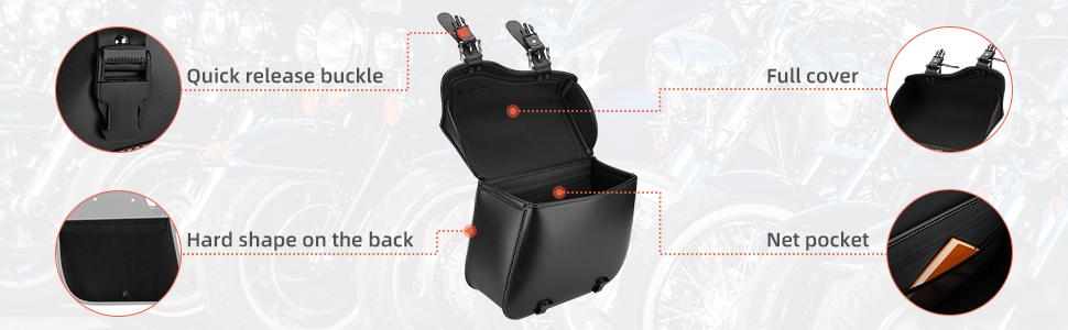 Large Capacity Saddle Bag, PU Leather Saddle Bag, Motorcycle Pannier Bags