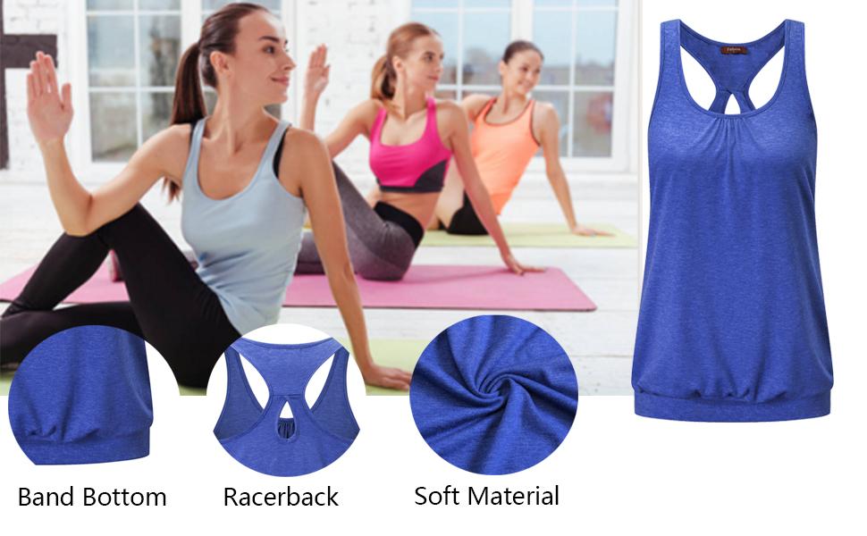 Felisou Womens Workout Yoga Tank Tops