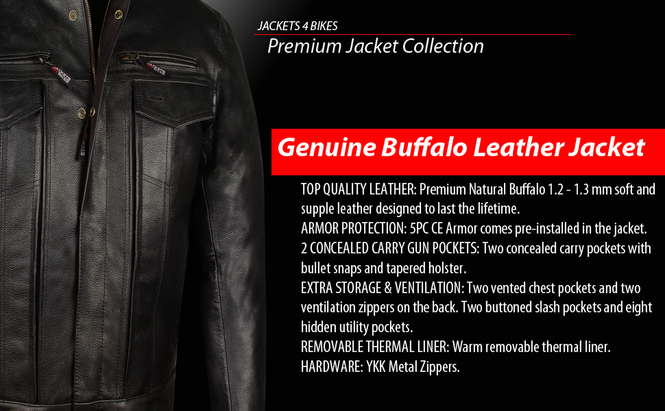 Motorcycle Biker Leather Jacket Classic Perforated Air