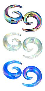 spiral gauges plugs