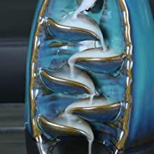 Details of the incense burner,back flowing incense burner,backflow incense cone,incent waterfall