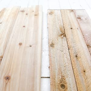 sanded smooth cedar