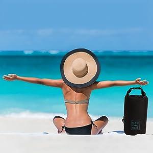 dry bag waterproof beach sand dry safe