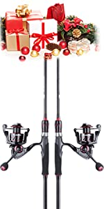 Red Eagle Spinning Fishing Rod and Reel Combos