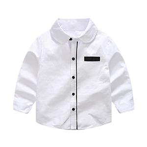 Camiseta formal Tops de manga larga Ropa blanca Camisa oficial