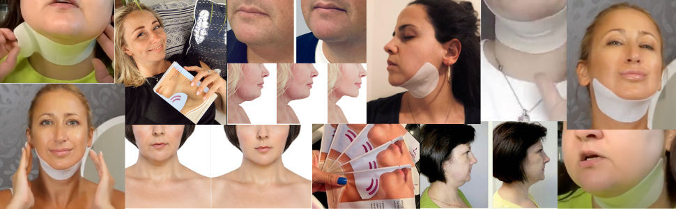 v shape face mask. tighten neck skin. reduce double chin fat remover strap reducer face lifting wrap