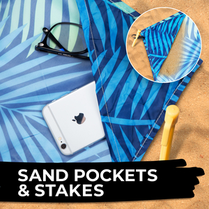 Sand pockets and stakes