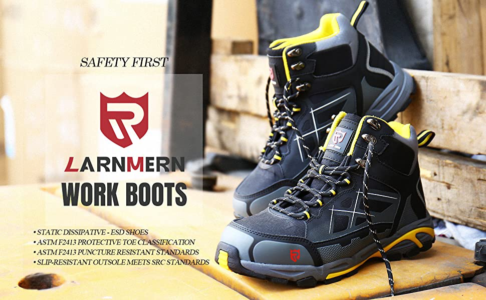 steel toe boots for men safety work shoes Industrial Construction Boots ESD shoes slip resistant