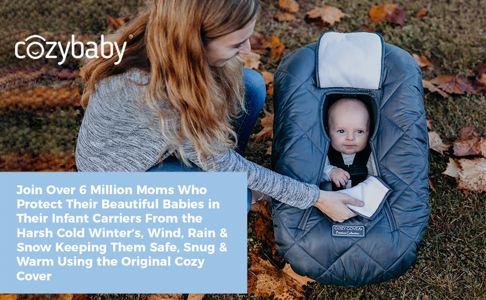 Cozy Cover Infant Carrier Cover, Premium Cozy Cover, Infant Carrier Cover, snug and warm carrier