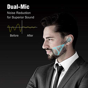 Wireless Earbuds with Dual-Mic Noise Reduction