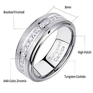newshe tungsten wedding bands for men