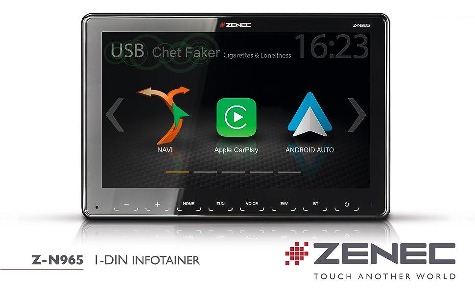 Z-N965 1-Din Autoradio mit Apple CarPla und Android Auto