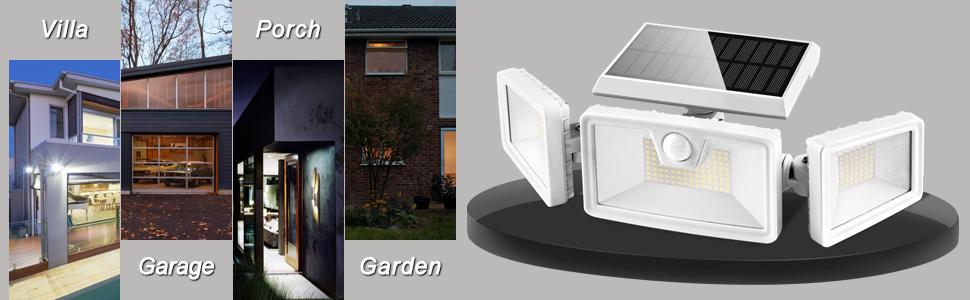 solar spotlights outdoor