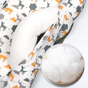 Baby Nest Bed Newborn Lounger Pillow Co Sleeper for Baby Bedside Newborn Lounger