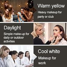 Three different types of lighting