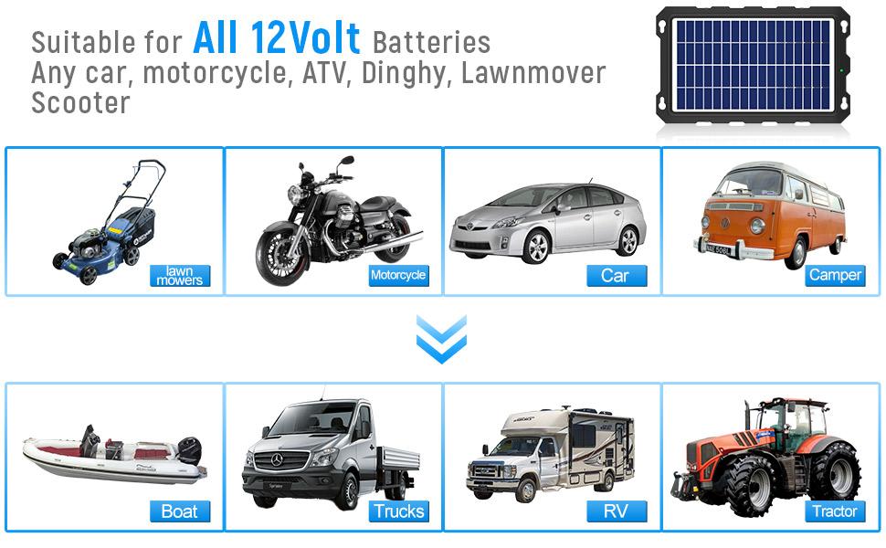 solar charger for boat battery 12v