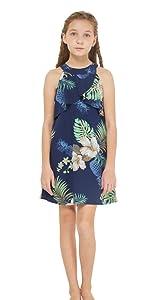 Hawaiian Ruffle Dress