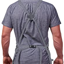 hudson cotton apron gray adjustable straps