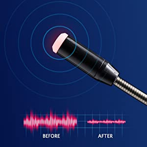 Noise-cancelling mic