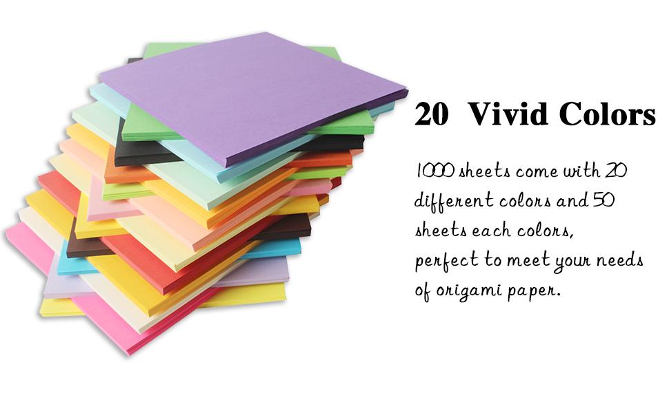 20 vivid colors