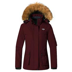 Skieer Womens Waterproof Ski Jacket Winter Snow Coat Windproof Snowboarding Jackets Warm Raincoat