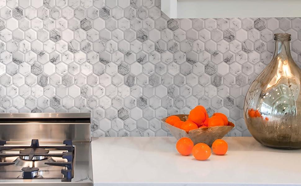 3d hexagon Carrara
