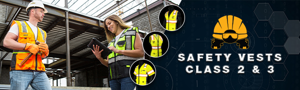 Kwiksafety high visibility orange yellow ansi tested osha compliant industry standard safety vests