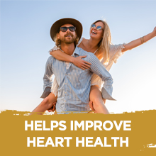 HELPS IMPROVE HEART HEALTH