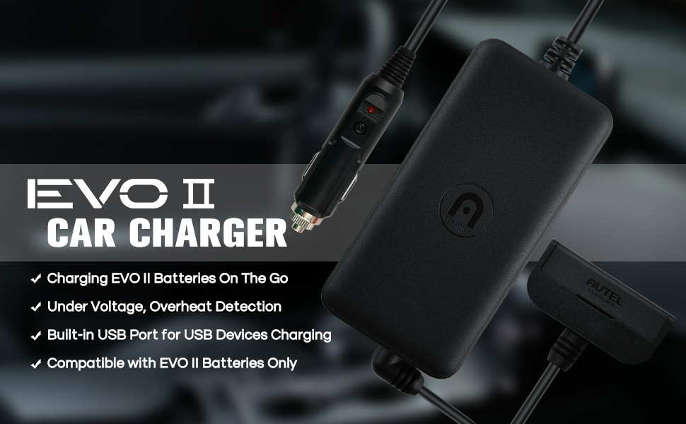 Autel Robotics Car Charger for EVO II Series Batteries & Controllers