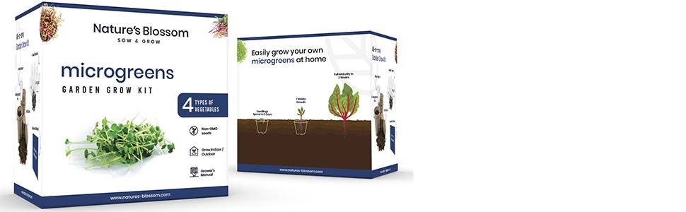 nature's Blossom microgreens seed starter kit