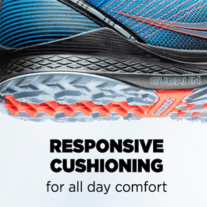 saucony trail running shoe with responsive cushioning for all day comfort
