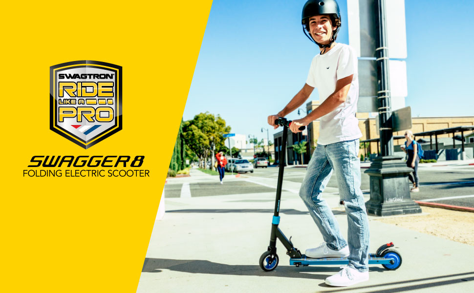 SWAGTRON Swagger 8 Folding Electric Kick Scooter — Riding Is Believing