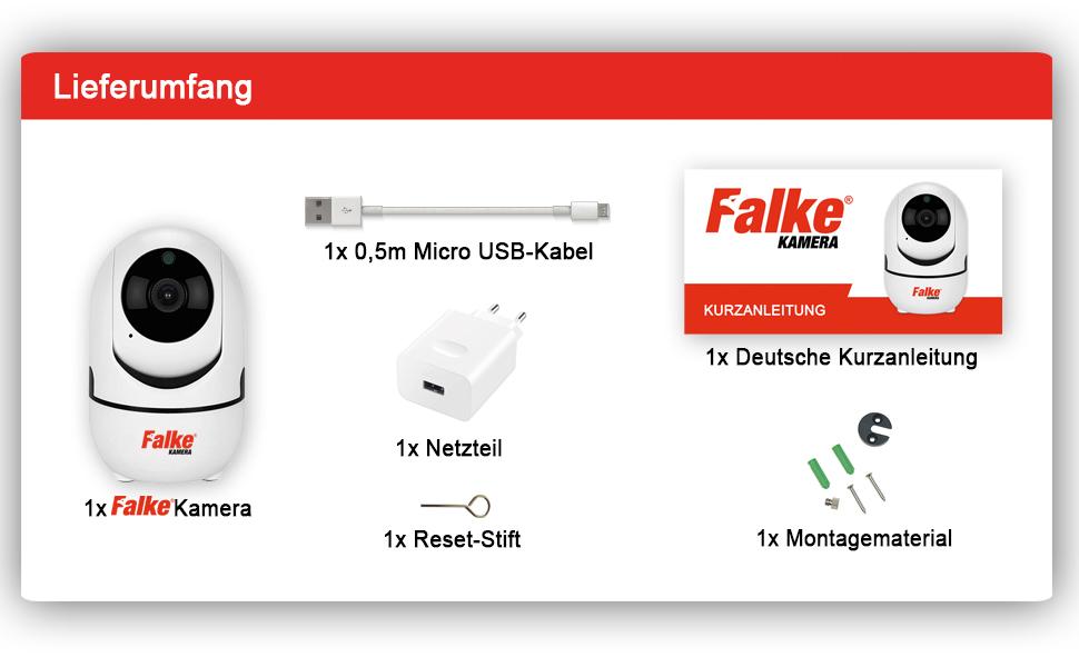 Falke Kamera, ip kamera indoor wlan, indoor Kamera, wifi kamera, wlan kamera, indoorkamera wlan