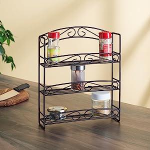 spice rack, spice organizer, spice rack organizer, magnetic spice rack, wall spice rack, wooden