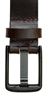 Metal-Free Carbon Fiber Wide Pin Brown Belt