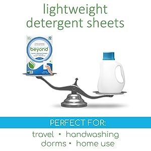lightweight detergent travel