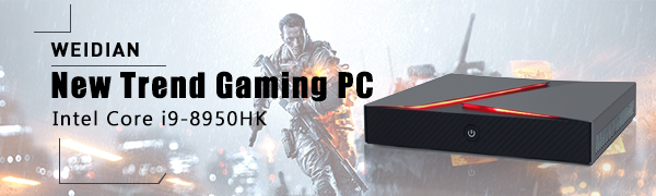 Gaming mini pc i9 desktop computer fanless mini pc windows 10 pro